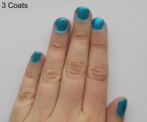 Kiko Milano Nail Lacquer Pearly Ocean 3 Coats